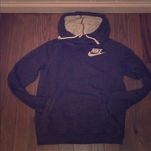 Grey Nike Pullover Hoodie Cowl Neck Women's Small